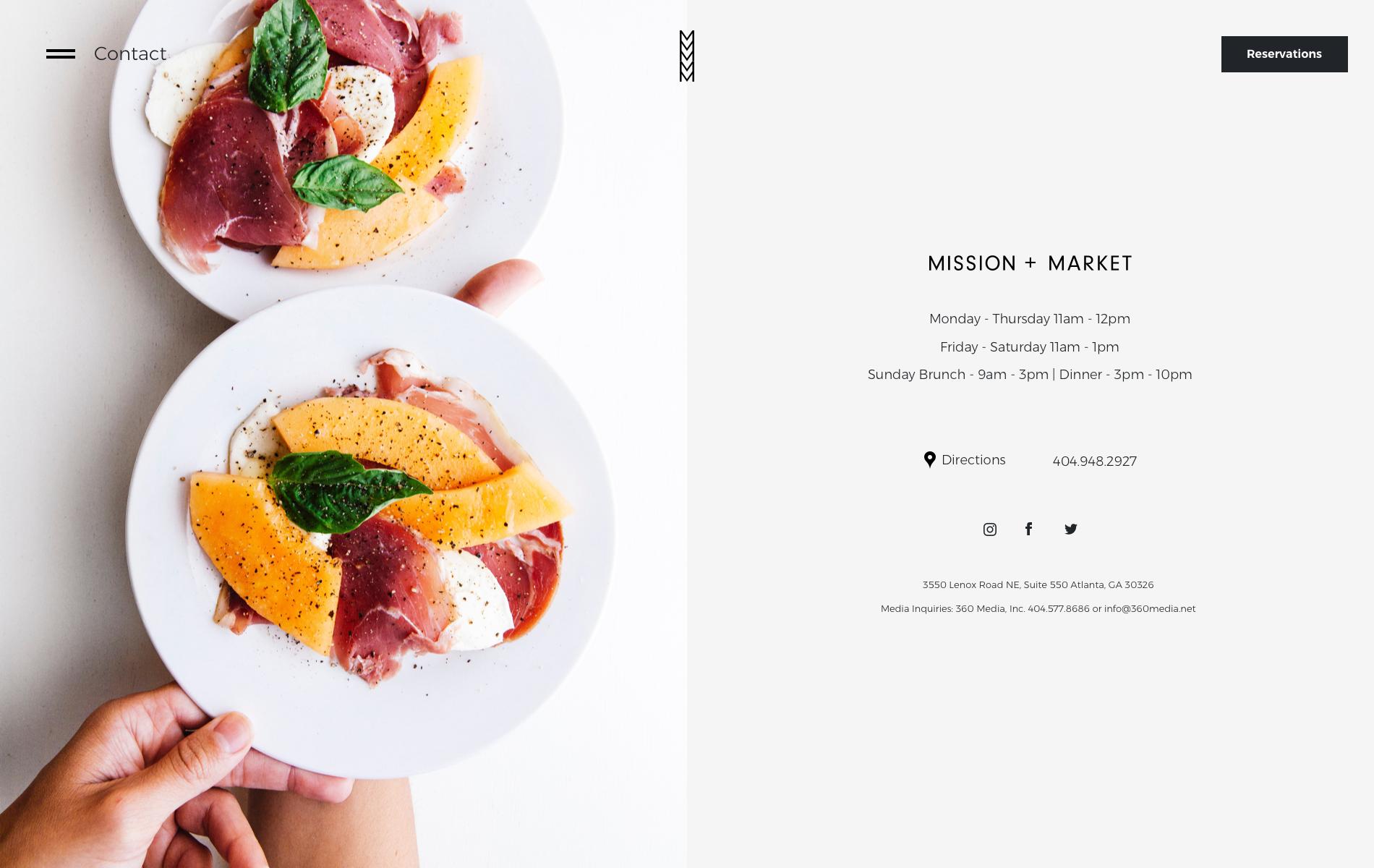 Responsive Restaurant Website Design in Atlanta