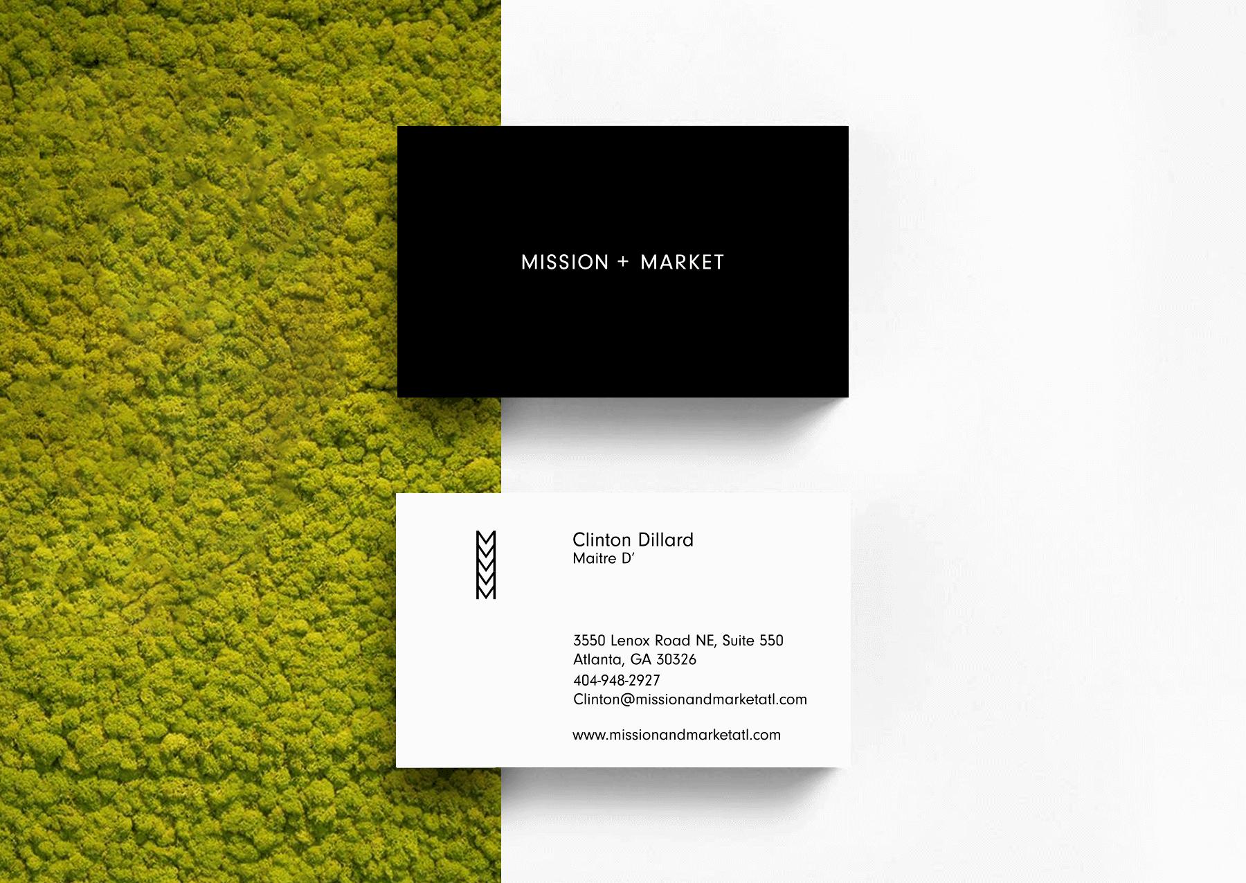 Mission + Market Business Card Design