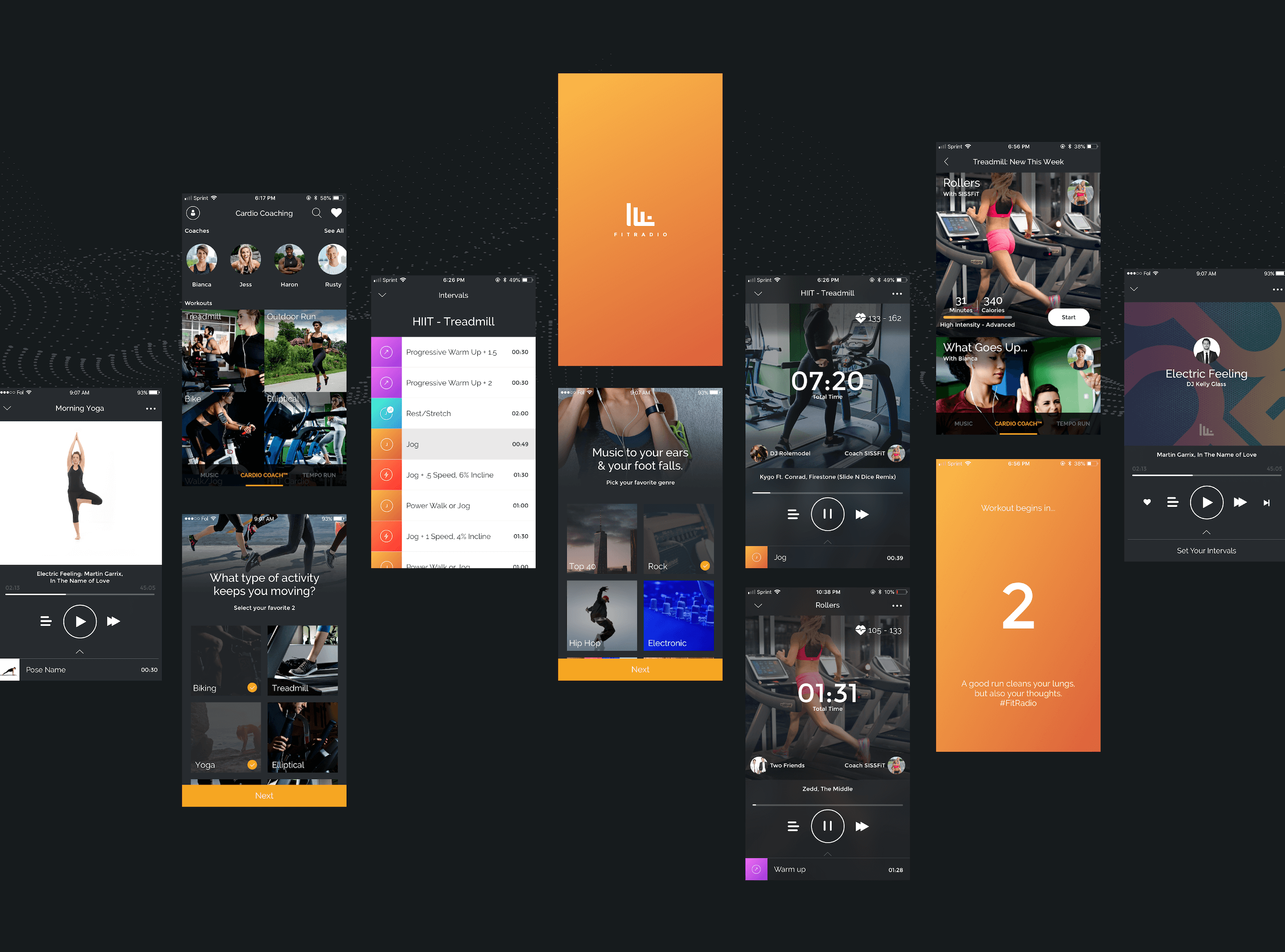 Fit Radio UI Design