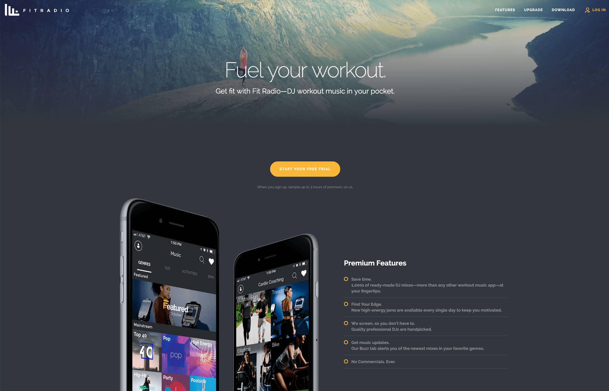 Fit Radio Website Design