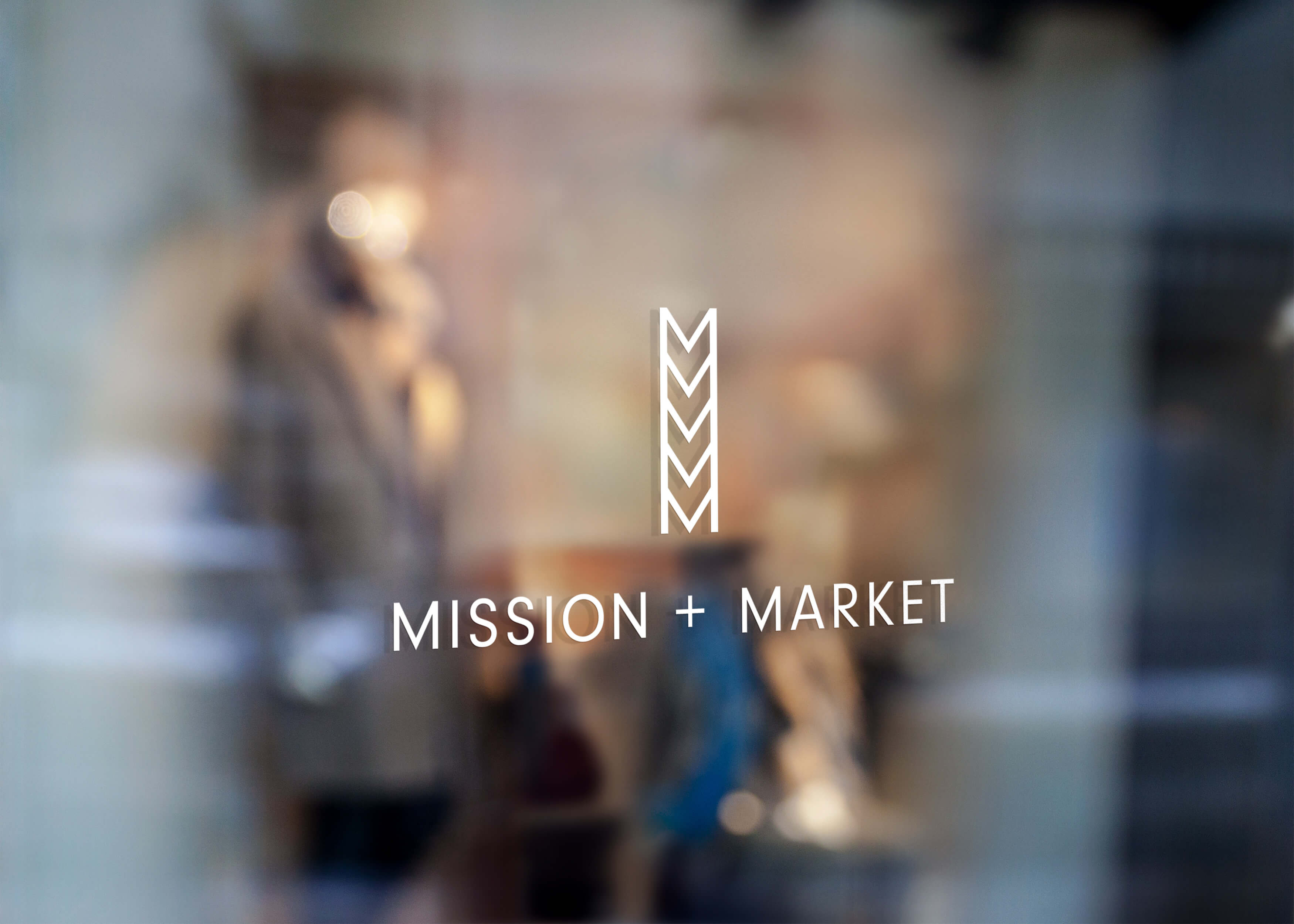 Mission + Market Window Sign Graphic