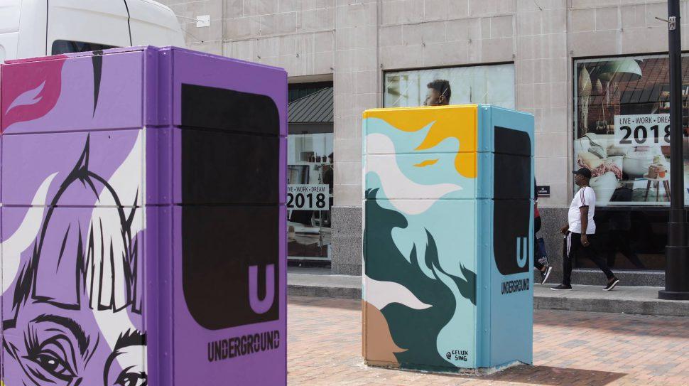 Underground Atlanta Pillars Project