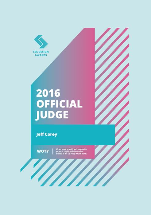 Css Design Awards Judge - Jeff Corey