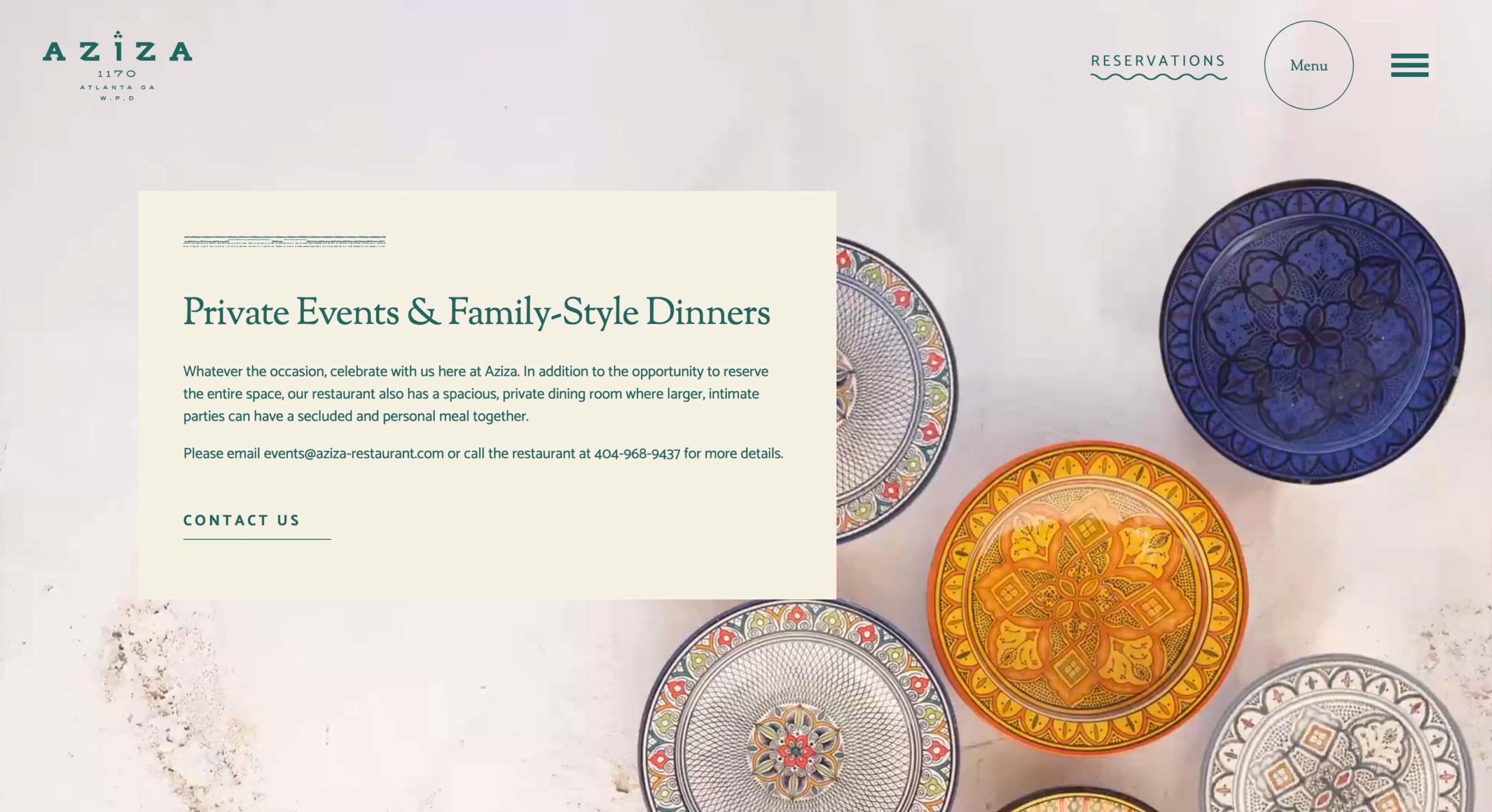 Restaurant website design in Atlanta