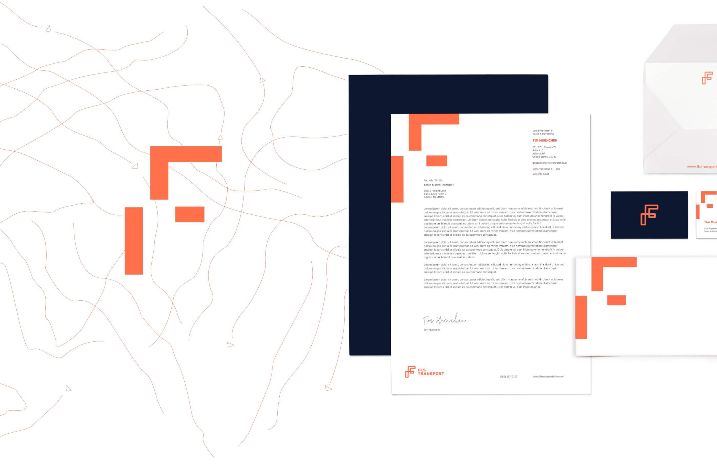 FLS Transport Brand Identity Package