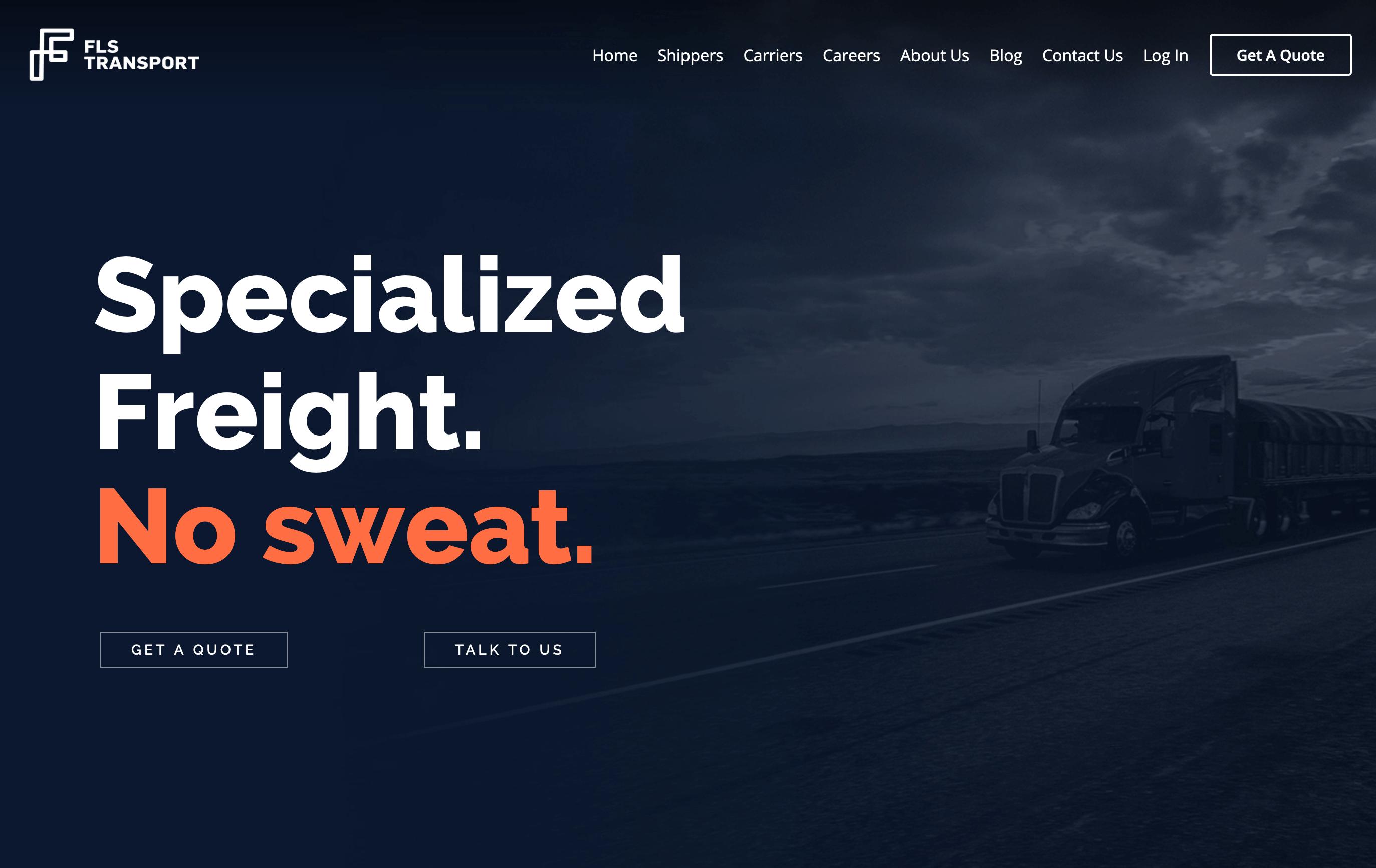 FLS Transport Typography