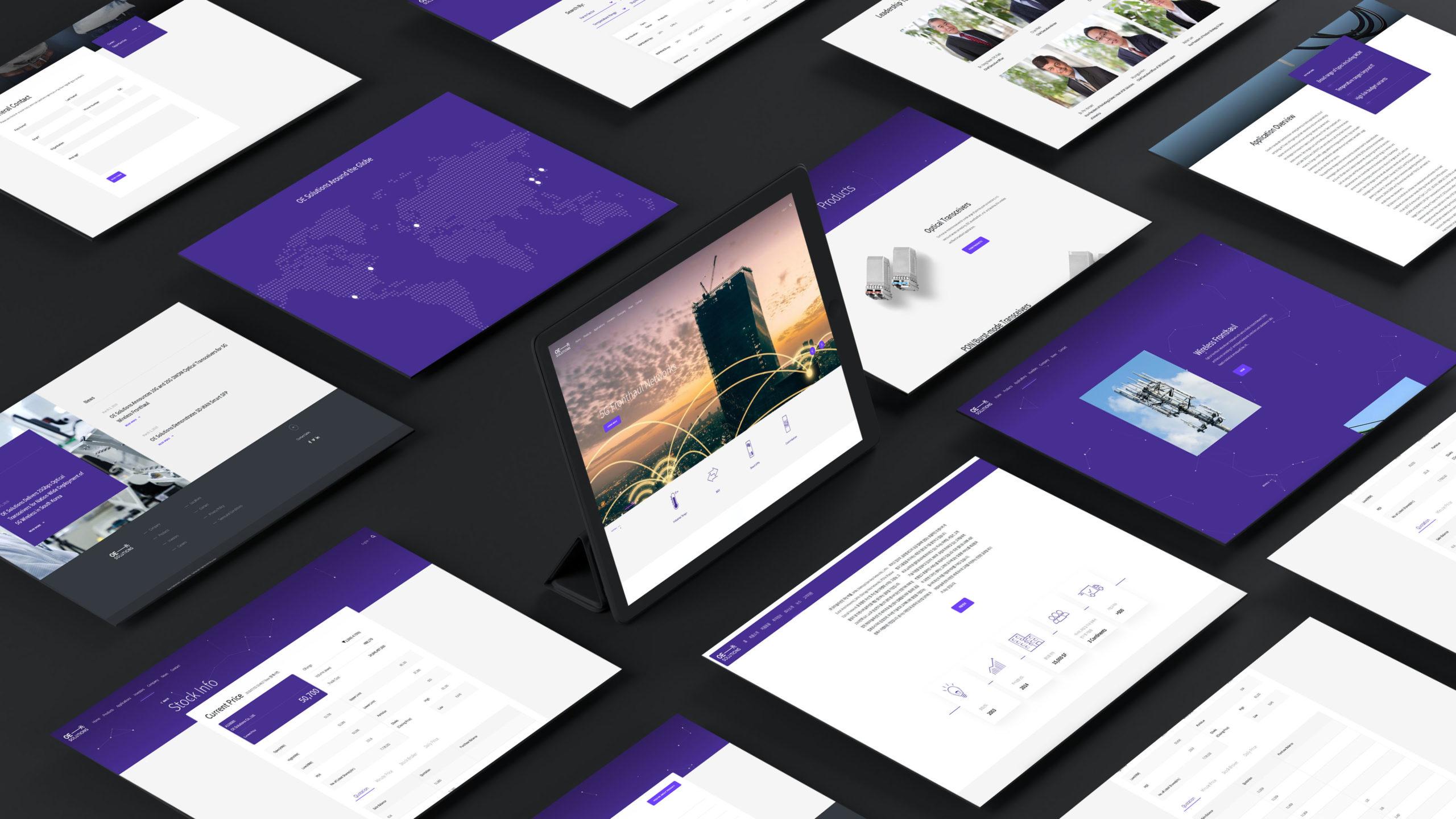 OE web page designs