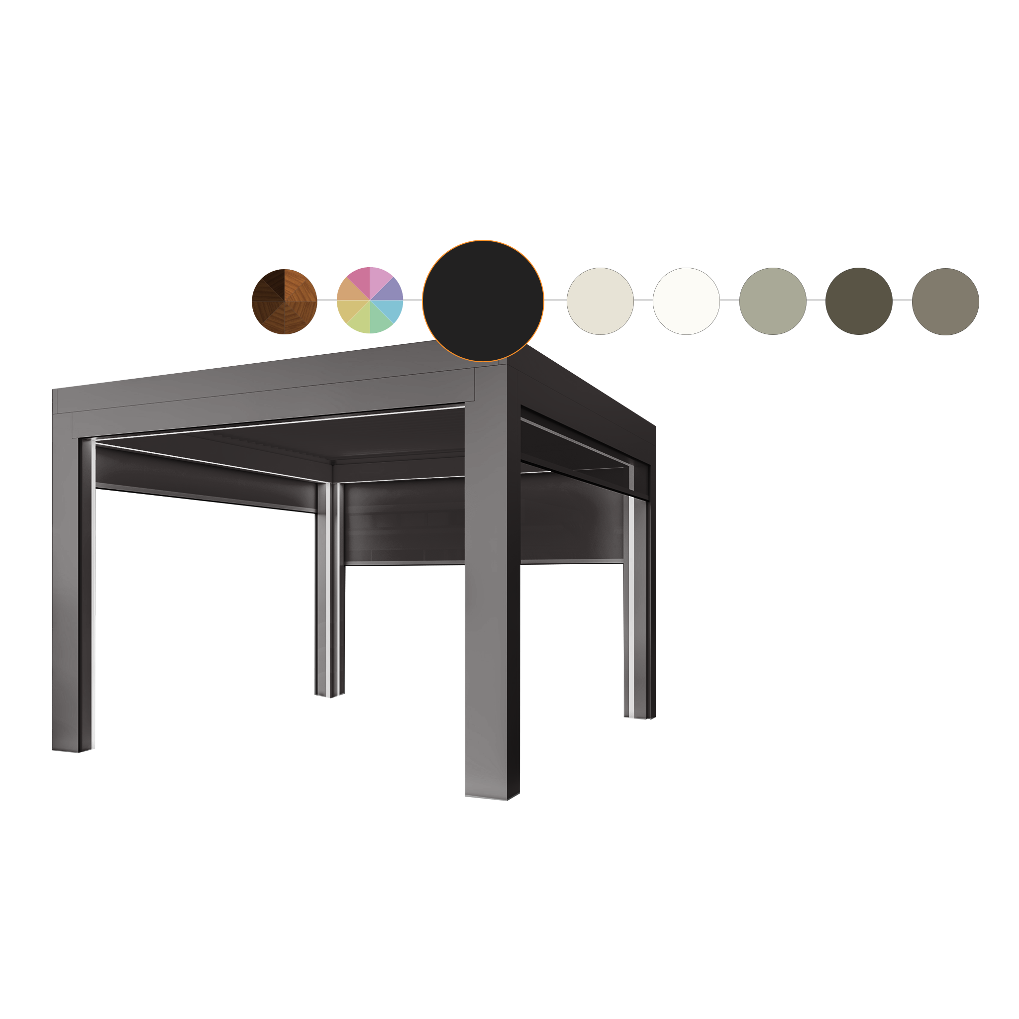 pergola with color options